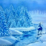 Зимняя сказка (пастель)